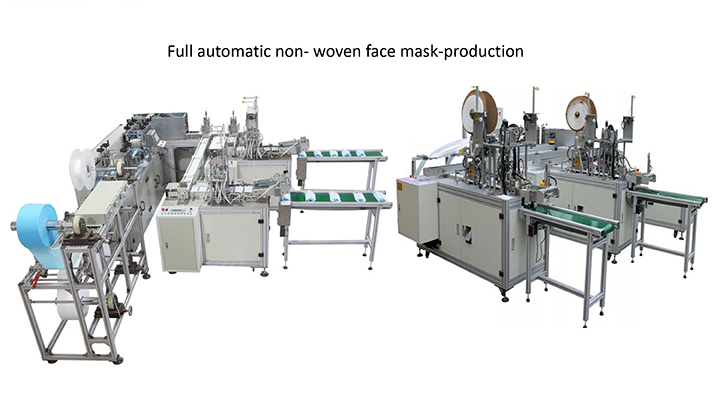 HUGONG full automatic non- woven face mask-production